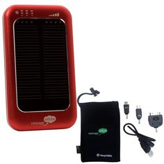 """Pin It :-) Follow Us :-))  zCamping.com is your Camping Product Gallery ;) CLICK IMAGE TWICE for Pricing and Info :) SEE A LARGER SELECTION of batteris & solar power at http://zcamping.com/category/camping-categories/camping-lighting/batteries-and-solar-power/ - hunting, camping, batteries, solar power, camping lighting, camping gear, camping accessories -  Brand New Concept Green – Concept Green Solar Assist Charger – 3600mAh Battery – Red """"Home/Office – Portable Chargers,Camping"""" «…"""