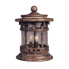 Maxim Santa Barbara Cast 3-Light Outdoor Deck Lantern