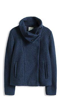 trendy wool blend short jacket