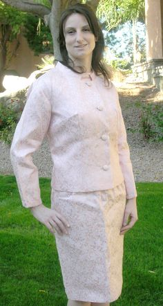 1960s Pink metalic brocade floral cocktail by Cherrybombsvintage, $75.00