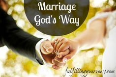 Marriage God's Way :: Carlie shares her testimony and how God revealed to her that marriage is beautiful when it is done His way. :: Fulfilling Your Vows