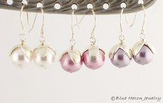 Handmade Pearl Earrings | ... Pearl Earrings :: Handmade Earrings :: Handmade Jewelry :: Blue Heron
