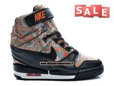 Nike Air Revolution Sky Hi Liberty London QS - Chaussure Montante Nike Pas Cher Pour Femme Noir/Rouge Solaire 632181-006