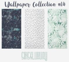 Wallpaper Collection at Luxury - The Sims 4 Catalog Mods Sims, Sims 4 Game Mods, Maxis, Sims 4 Family, Muebles Sims 4 Cc, Sims 4 Bedroom, 4 Wallpaper, Computer Wallpaper, Sims 4 Clutter