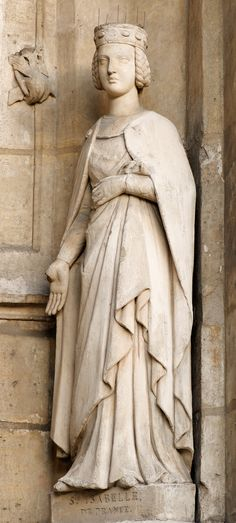 Saint Isabelle (Capet) of France, (1224 - 1270) Daughter of Louis VIII of France and Blanche of Castile. In 1256 she founded the Poor Clare Monastery of Longchamp in the part of the Forest of Rouvray now called the Bois de Boulogne, west of Paris. She is honored as a saint by the Franciscan Order. 22nd GGAunt