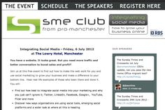 The Integrating Social Media Conference in Manchester UK on the 1st July - now a complete sell out. Excellent.