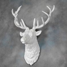 large deer head white deer head wall mount 14 point stag head antlers faux taxidermy nd0101 near and deer faux taxidermy pinterest white deer
