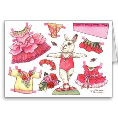 Shop Rose Ballerina Paper Doll Birthday Card created by ballerinabunny. Paper Doll Costume, Barbie Paper Dolls, Vintage Paper Dolls, Bjd Dolls, Paper Toys, Paper Crafts, Paper Art, Birthday Wishes, Birthday Cards