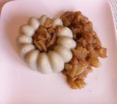 Jess' Frühstück: Kalter Grießbrei mit Apfel-Zimt-Kompott.