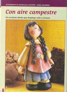 PORCELANA FRIA Trynys design: Paso a paso muñeca country en porcelana fria 05
