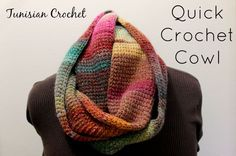 Quick Crochet Cowl Labeled