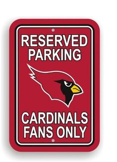 NFL Arizona Cardinals Plastic Parking Sign by Fremont Die. $12.46. Officially licensed NFL product.. Made from plastic. 12-by-18 inches. Printed with NFL team logos. NFL Arizona Cardinals Plastic Parking Sign