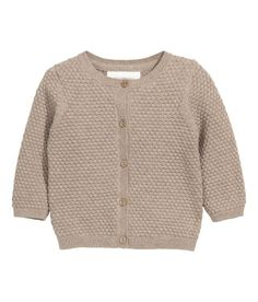 Check this out! BABY EXCLUSIVE/CONSCIOUS. Soft, textured-knit cardigan in organic cotton with buttons at front and long sleeves. - Visit hm.com to see more.