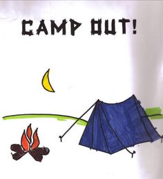 Camping Coloring Page.