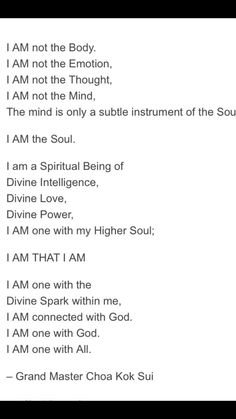 "Soul Affirmation ""I am that I am"" Spiritual Enlightenment, Spiritual Health, Spirituality, Healing Meditation, Guided Meditation, Meditation Practices, Kundalini Yoga, Prayer For Forgiveness, What Is Self"