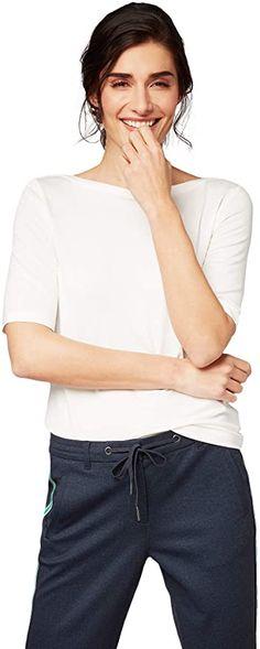 Sehr angenehm zu tragen  Bekleidung, Damen, Tops, T-Shirts & Blusen, T-Shirts Toms, Shirt Bluse, Tom Tailor, Bateau Neckline, Tshirts Online, T Shirts For Women, Fashion Tips, Shopping, Monochrome