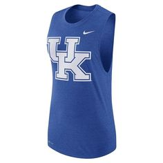 Women's Nike Kentucky Wildcats Dri-FIT Muscle Tee, Size: Medium, Blue