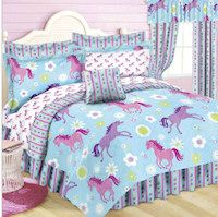Horse Bedroom Decor from Horse-e-gifts Horse Themed Bedrooms, Bedroom Themes, Girls Bedroom, Bedroom Decor, Bedroom Ideas, Horse Rooms, Blue Comforter Sets, Bedding Sets, Pink Bed Sheets