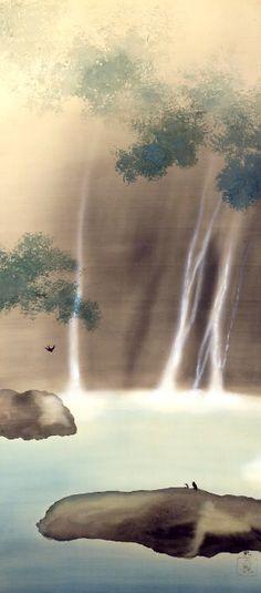 Taikan Yokoyama, Waterfalls (c. 1900) on ArtStack #taikan-yokoyama #art