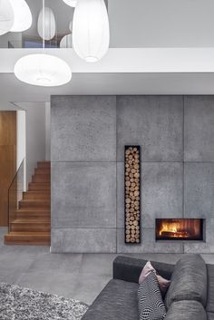 Best Snap Shots modern Contemporary Fireplace Strategies Modern fireplace designs can cover a broader category compared with their contemporary counterparts. Home Fireplace, Modern Fireplace, Concrete Fireplace, Christmas Fireplace, Fireplace Ideas, Christmas Decor, Home Deco, Bloomfield Homes, Contemporary Fireplace Designs