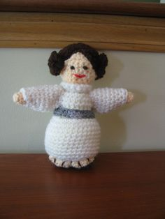 Princess Leia sponge stuffed Princess Leia, Dinosaur Stuffed Animal, Toys, Crochet, Animals, Activity Toys, Animaux, Knit Crochet, Animal