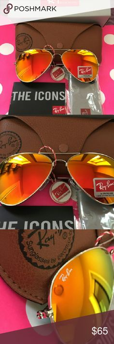 ray ban rb3026 metal green mirror glass  brand: ray ban model: rb 3026 frame color: gold lens color:orange mirror lens size: size) u.v. protection ray ban accessories glasses
