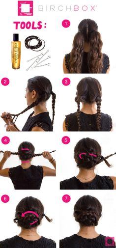 braided pigtails How To: Get a Folded Pigtail Braid Updo