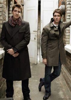 James and Oliver Phelps (AKA Weasley twins)