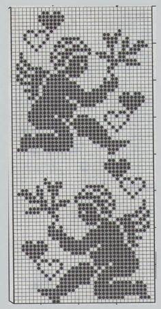 Heklani Radovi By Vicka 22 Cross Stitch Angels, Cross Stitch Bookmarks, Cross Stitch Heart, Beaded Cross Stitch, Cross Stitch Embroidery, Filet Crochet, Crochet Cross, Crochet Doilies, Crochet Stitches Patterns