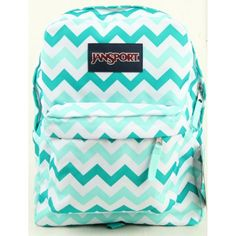 JanSport Superbreak Girly School Backpack B1020: Aqua Dash Zou Bisou. Ultra-functional school backpack/daypack with 600-denier construction. Single main compartment and front pocket with organizer for smaller items. Stores 2 to 3 textbooks, binder, spiral notebooks, calculator, cell phone, and more. Comfortable straight-cut, padded shoulder straps and 2/3-padded back panel. 1,551.2 cubic inches of storage; measures 13 x 16.7 x 8.5 inches (W x H x D).