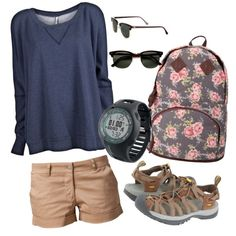 Untitled #15, created by allieday90 on Polyvore  Love the book bag!