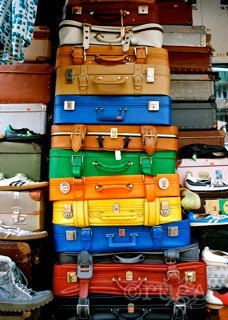 Vintage Suitcases Berlin Germany; travel photography, off the beaten path