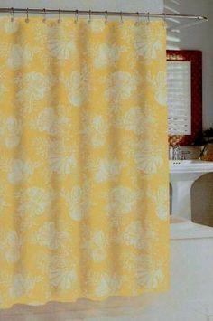 Shells in Sunshine Shower Curtain by Kassatex from Kellsson Home Linens.