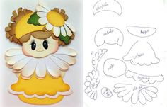 Petal pal daisy girl spring summer paper piecing tear bears kira