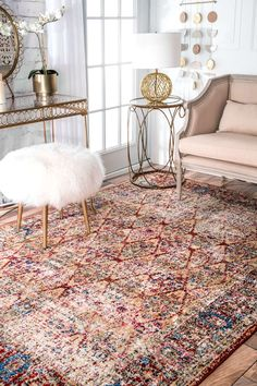 Bring a traditional touch along with a delicate mosaic effect on your floor with this beautiful vintage rug. Made with a combination of polypropylene and polyester, it is soft, durable and is perfect for a large living room or hallway.