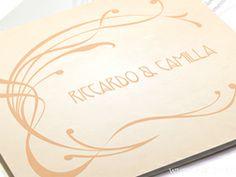 Vintage wedding card in peach Color - Hochzeitseinladungen Pfirsichfarbe - Partecipazioni inviti Matrimonio pesca stile Vintage by e-MoVeo Cards www.emoveo-cards.com