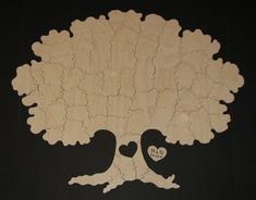 65+pc+Wedding+Guest+Book+Puzzle++Hand+Cut+by+KeystonePuzzles,+$230.00