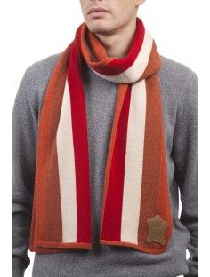 Men's Famous Grouse 100% Lambswool Striped Scarf