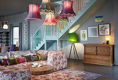 Meest kleurrijke woonkamer inrichting