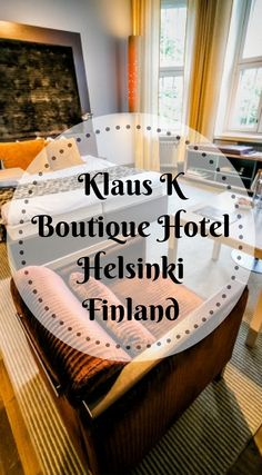 Klaus K Boutique Hotel in Helsinki Finland. No matter how you shake it, it was the perfect location for us to rest, relax and recharge. Of course, we didn't spend all our time in the hotel, despite my protests, and did have a beautiful afternoon out in Helsinki. Click to read more by the Divergent Travelers Adventure Travel Blog http://www.divergenttravelers.com/klaus-k-hotel-helsinki/