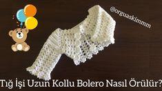 Crochet Bolero Pattern, Crochet Patterns, Crochet Baby Shoes, Crochet Hats, Piercings Ideas, Crochet Videos, Crochet Designs, Baby Knitting, Baby Dress