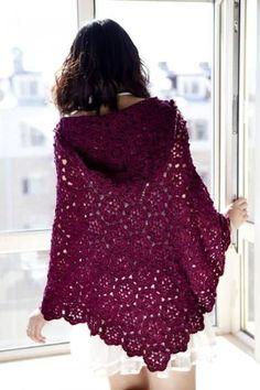 Beautiful Crochet Poncho Patterns That You Will Love Shawl Crochet, Crochet Cape, Crochet Poncho Patterns, Crochet Motifs, Crochet Shawls And Wraps, Crochet Cardigan, Crochet Scarves, Crochet Clothes, Knit Crochet
