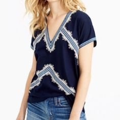 85d82744b72 J. Crew Embroidered Tunic Top NWT! Size XXS This top is so cute!
