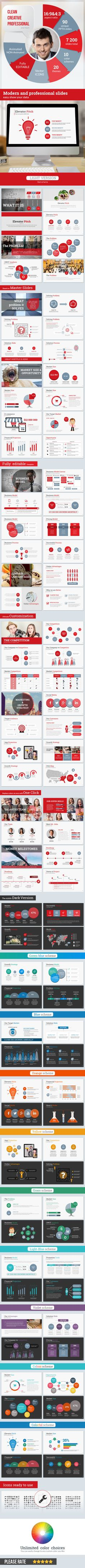 Startup Pitch Deck Leader-Up Presentation Template - Business PowerPoint Templates