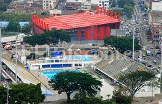 Vista aérea de los escenarios deportivos dos días antes de iniciar oficialmente los Juegos Mundiales. Foto: Julio Sánchez.