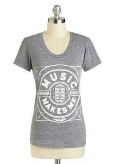 I Came to Dance Tee: Youve got just one thing on your mind tonight  and thats to slip into your dancing shoes and boogie to the music! Eager for good tunes and dance moves  you stri…    #1960s #60s #Retro #Vintage #Grey, #ICameToDanceTee, #MNKR