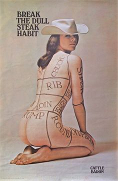 Cattle Baron | 1968 Women's liberation promotional poster designed by Studio…