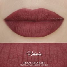 Natasha Liquid Lipstick Matte Attack Liquid by BeautyBarBaby - Makeup Ideas Smudge Proof Lipstick, Dark Lipstick, Lipstick Shades, Lipstick Colors, Liquid Lipstick, Lip Colors, Beauty Bar, Beauty Make Up, Lipstick Tattoos