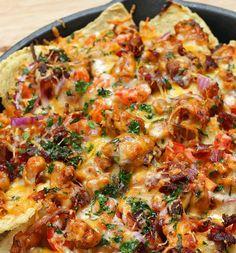 Tip voor het weekend! Deze BBQ chicken nacho's zijn echt heerlijk.