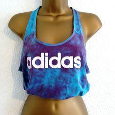 VTG Reworked Adidas Tie Dye 90s Vest Crop Top T-Shirt 10 12 14 & Free Scrunchie Adidas, Tie Dye Crop Top, Crop Tops, Scrunchies, Free, Online Price, Athletic Tank Tops, Vest, Amp